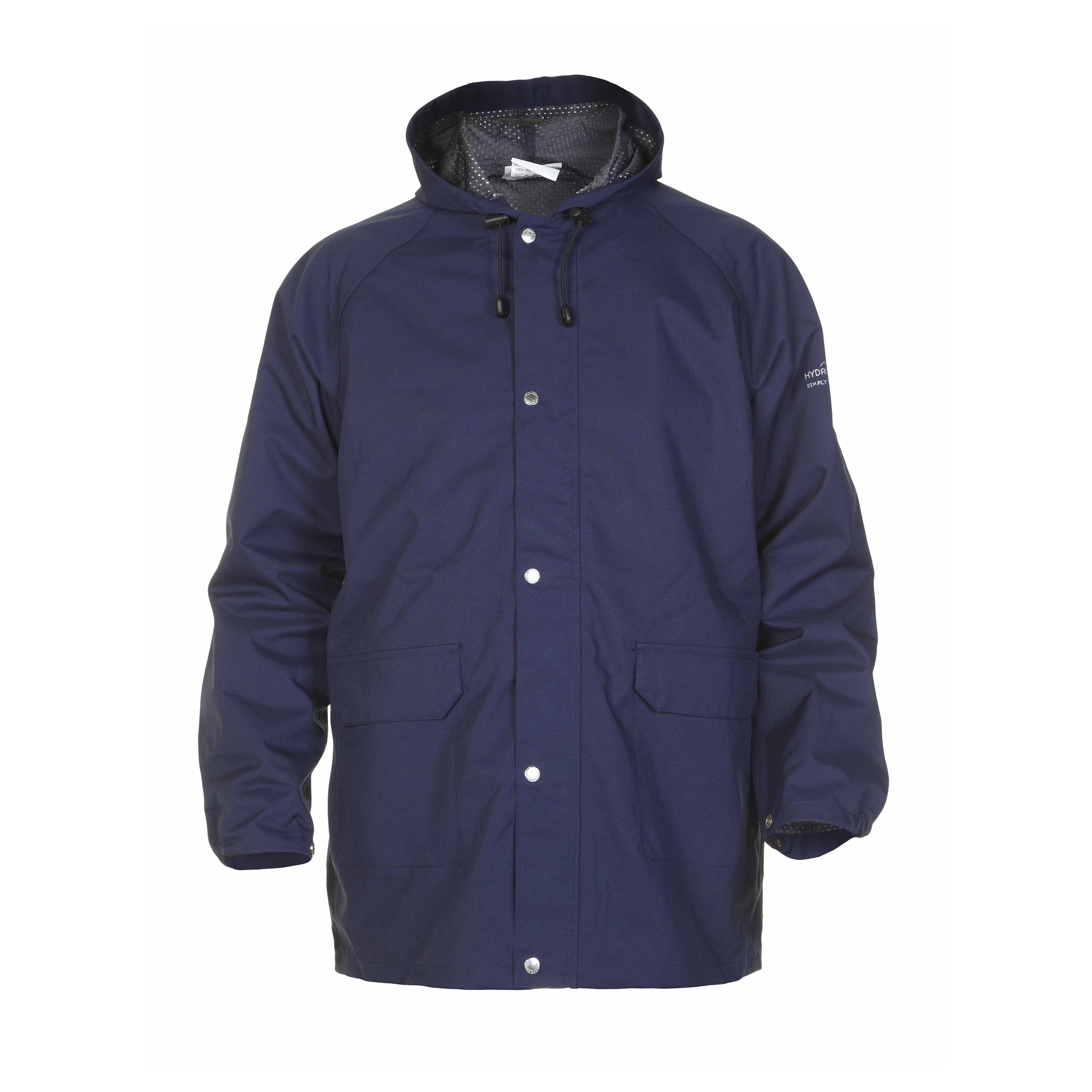 Mens coats or jackets Hydrowear Ulft SNS Waterproof Jacket Polyester Large Navy Blue Ref HYD072400NL *Up to 3 Day Leadtime*