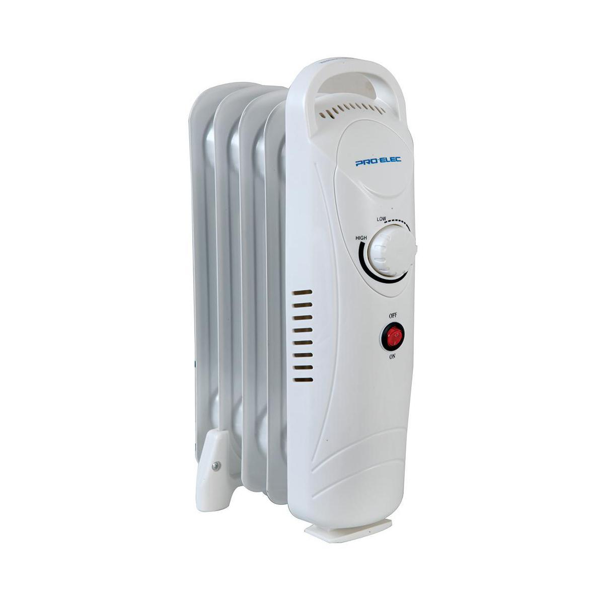 Radiators 600W 5 Fin Oil Filled Radiator White Ref HG01184