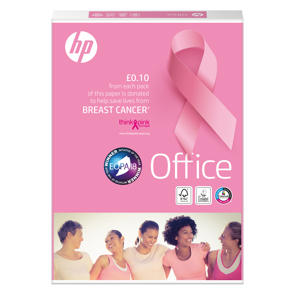 Hewlett Packard HP Office Paper Ream-Wrapped 80gsm A4 White Ref 93595 5 x 500 Sheets