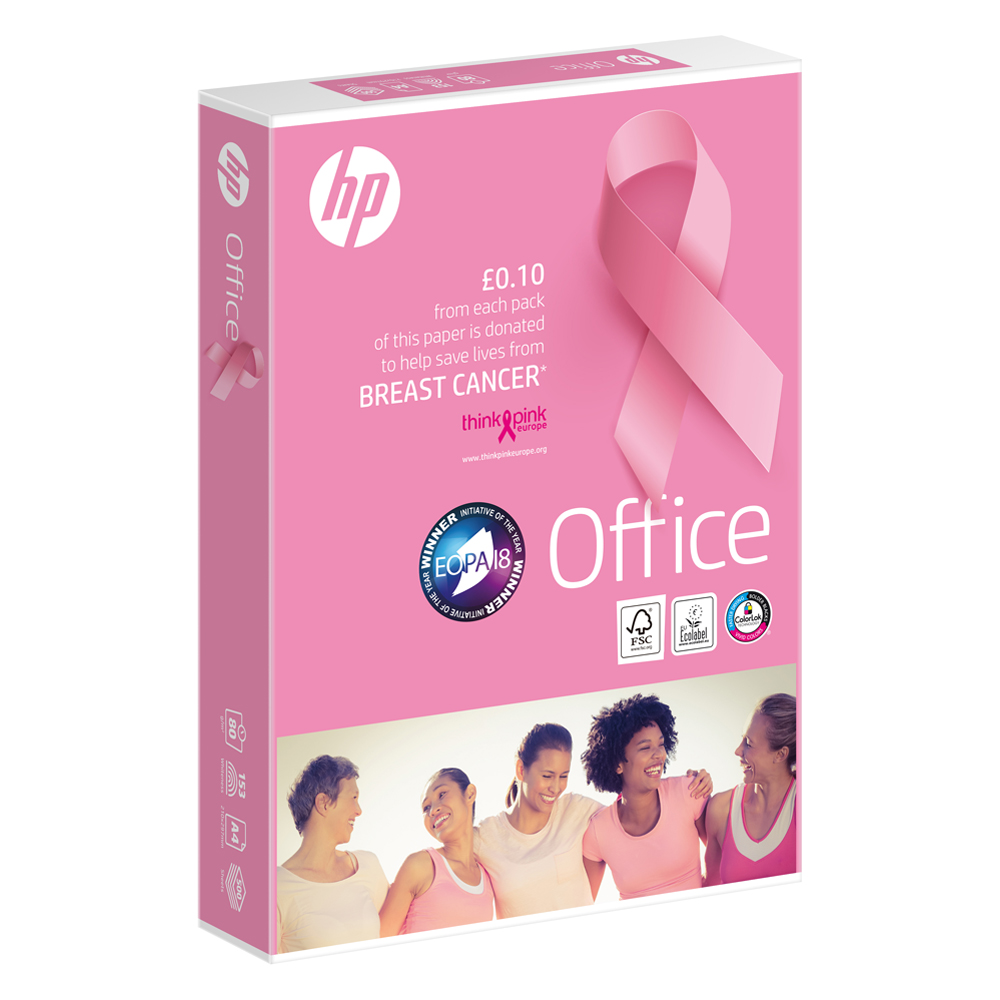 Hewlett Packard HP Office Paper FSC Colorlok 5x Ream-wrapped pks 80gsm A4 White Ref 93595 [2500 Sheets]