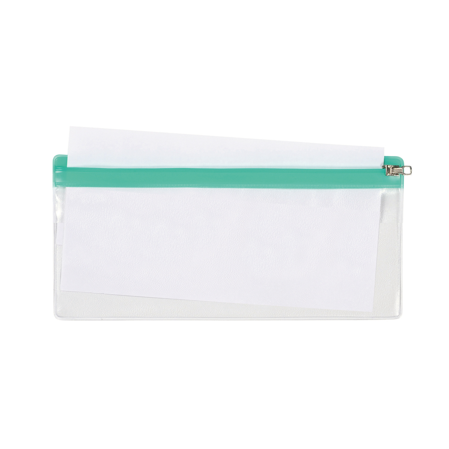 Folders 5 Star DL Zip Bag 210x145mm Transparent with Zip Colour Astd Pack 5