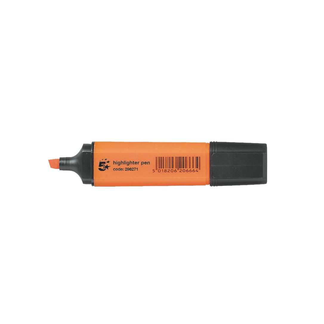 Business Highlighters Chisel Tip 1-5mm Line Orange [Pack 144] [Bulk Pack] Jan-Dec 2017