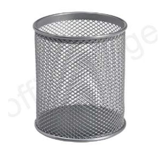 Business Pencil Holder Wire Mesh Silver Ref 30094