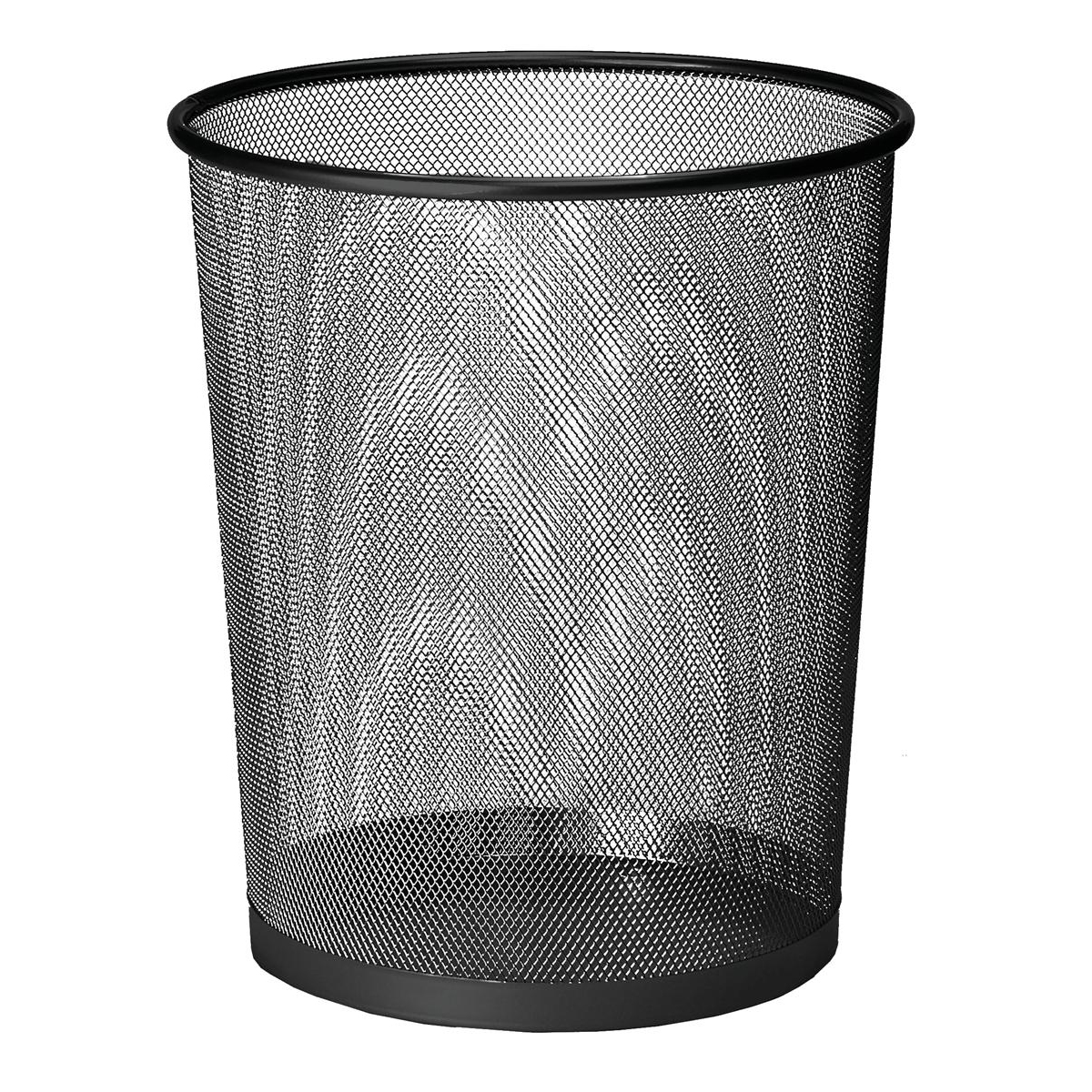 Business Mesh Waste Bin Lightweight Sturdy Scratch Resistant W275xH350mm Black