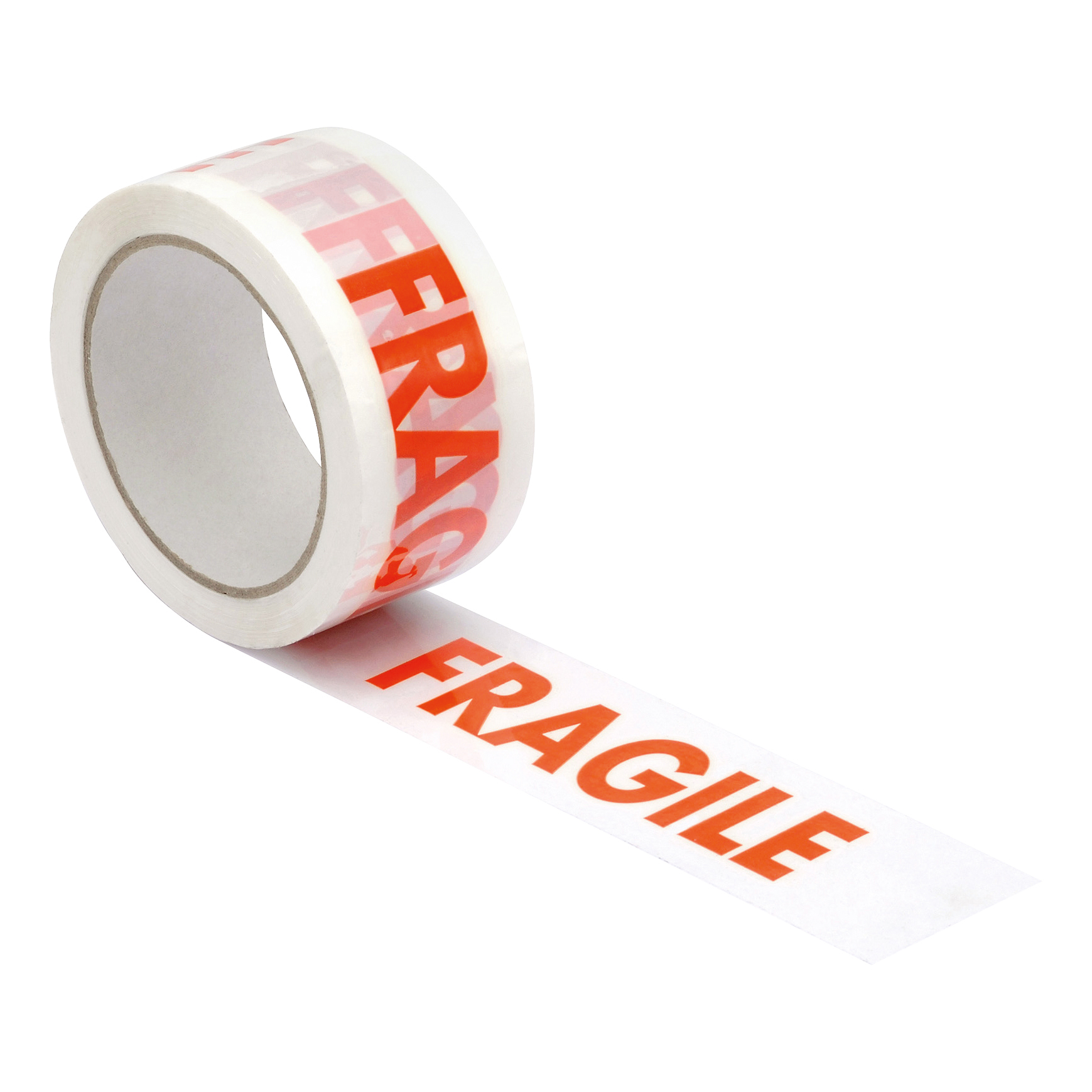 Business Printed Tape Fragile Polypropylene 50mmx66m Red on White [Pack 6]