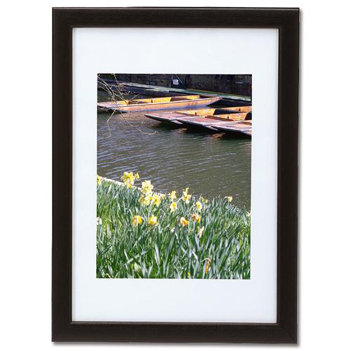 Business Picture or Certificate Frame Portrait or Landscape with Styrene Front A4 Black