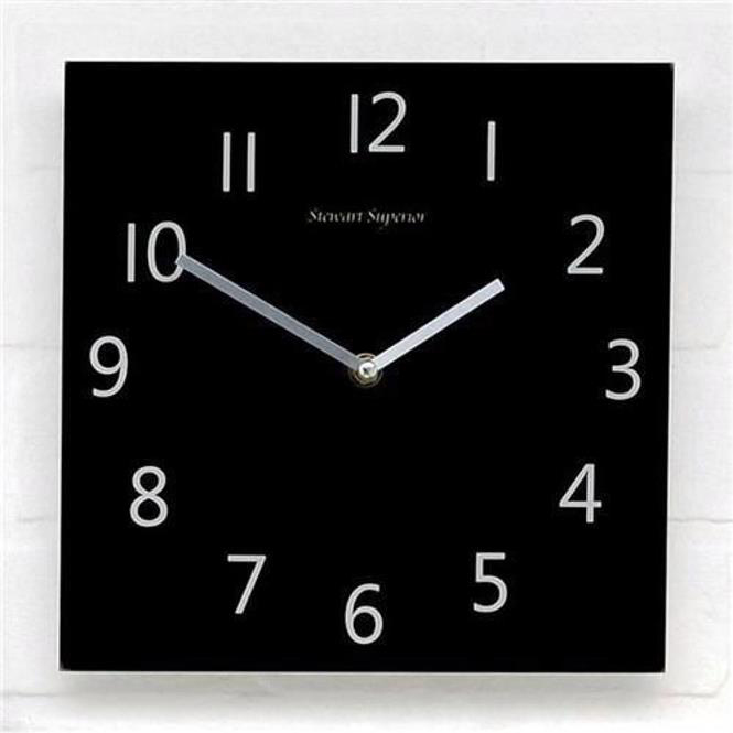 Business Wall Clock Square Black Face Ref 2100H-BK