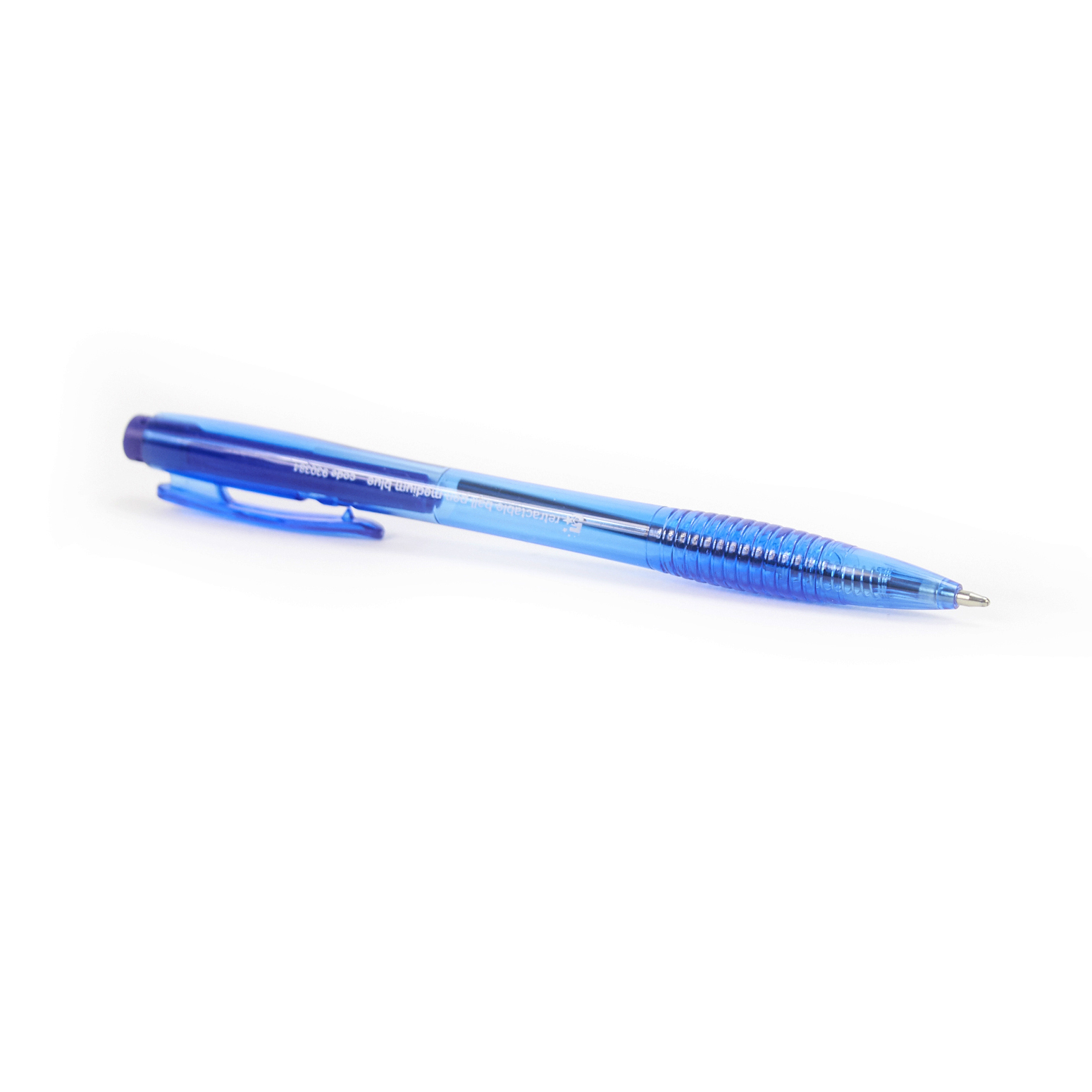 5 Star Office Retractable Ball Pen Medium 1.0mm Tip 0.7mm Line Blue Pack 20