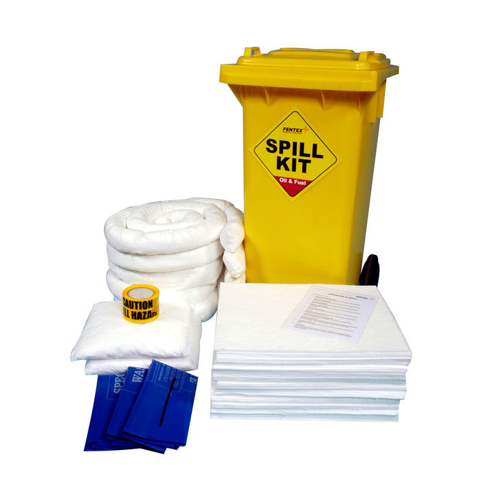 Spillage Control Fentex Oil & Fuel Wheelie Bin Spill Kit Ref OSKS *Up to 3 Day Leadtime*