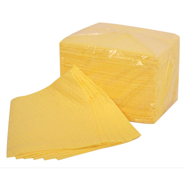 Fentex Chemical Absorbent Pads 85 Litres 400x500mm Yellow Ref CB100M Pack 100 *Up to 3 Day Leadtime*