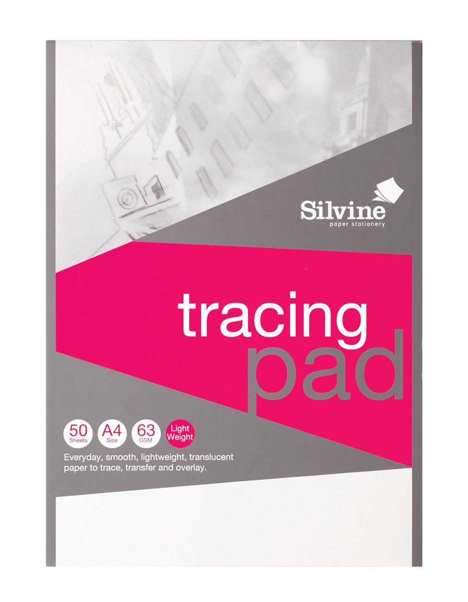 Image for Silvine Tracing Pad Acid Free Paper 50gsm 50 Sheets A4