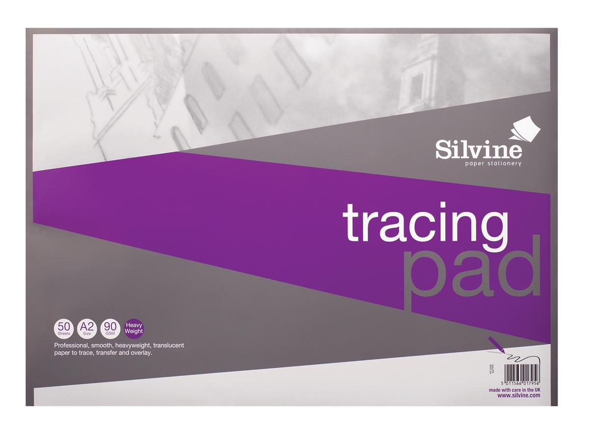 Image for Silvine Professional Tracing Pad Acid Free Paper 90gsm 50 Sheets A2