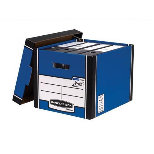 Image for Bankers Box by Fellowes Premium 726 Archive Storage Box Blue and White Ref 7260602 [Pack 10]