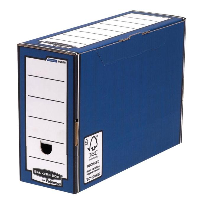 Image for Bankers Box by Fellowes Premium Transfer File Blue and White Ref 00059-FF [Pack 10]