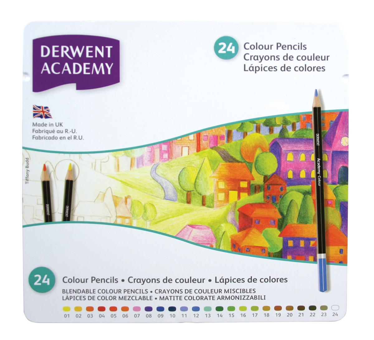 Image for Derwent Academy Colouring Pencils High -quality Pigments Assorted Ref 2301938 [Pack 24]