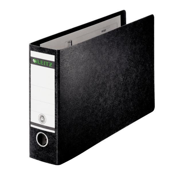 Image for Leitz Board Lever Arch File Oblong Landscape 77mm Spine A3 Black Ref 1073-00-95 [Pack 2]
