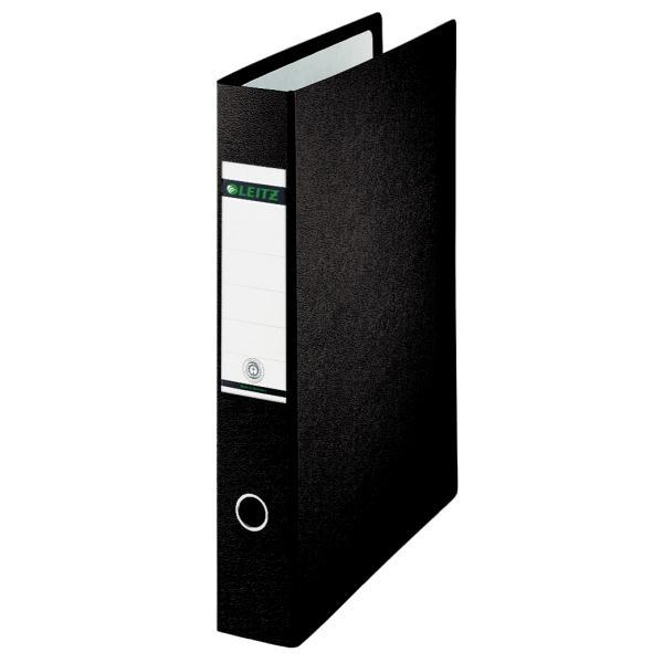 Image for Leitz Board Lever Arch File Upright 77mm Spine A5 Black Ref 1075-00-95 [Pack 5]