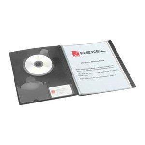 Image for Rexel Clearview Display Book 24 Pockets A4 Black Ref 10320BK