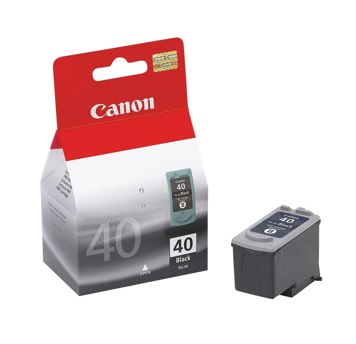 Canon PG-40 Inkjet Cartridge Page Life 329pp 16ml Black Ref 0615B001