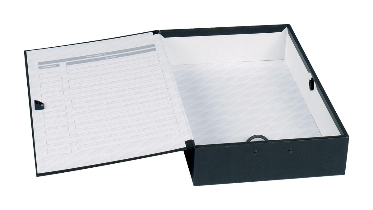 Image for Concord Classic Box File 75mm Spine Foolscap Black Ref C1282 [Pack 5]