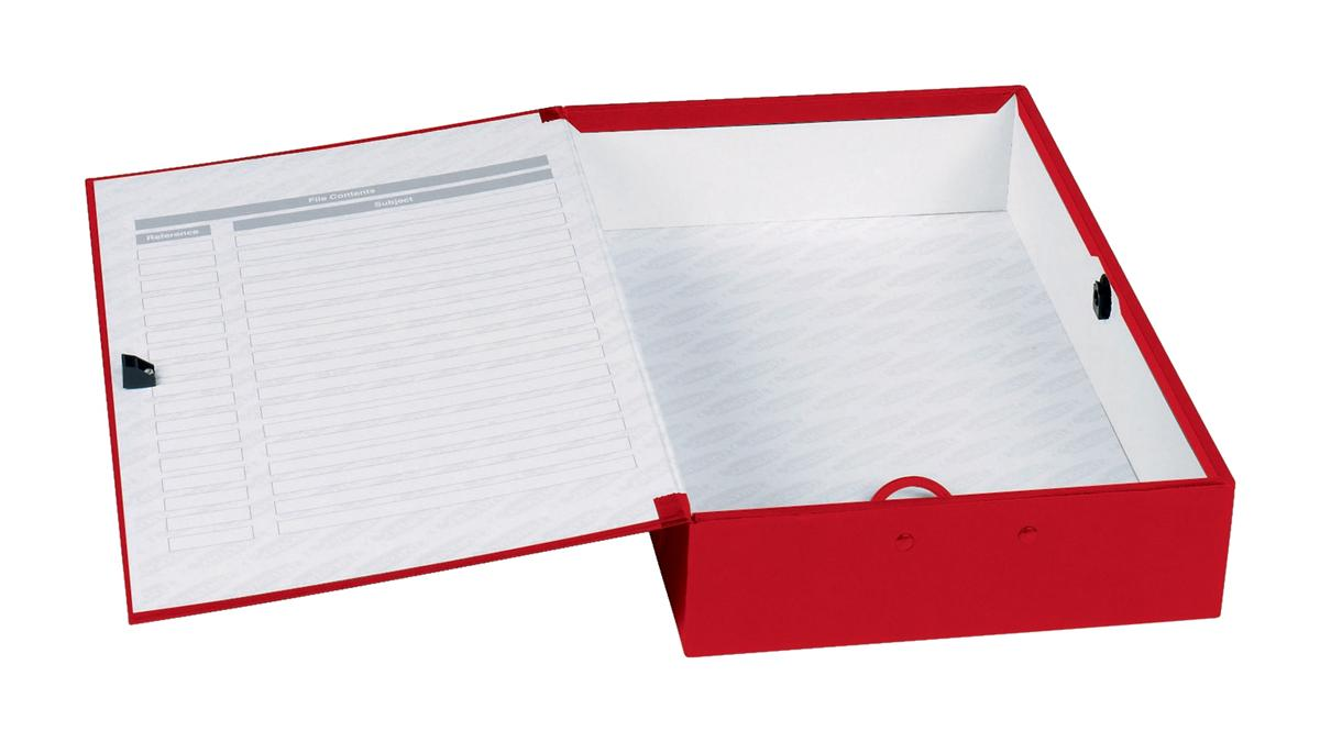 Image for Concord Classic Box File 75mm Spine Foolscap Red Ref C1279 [Pack 5]
