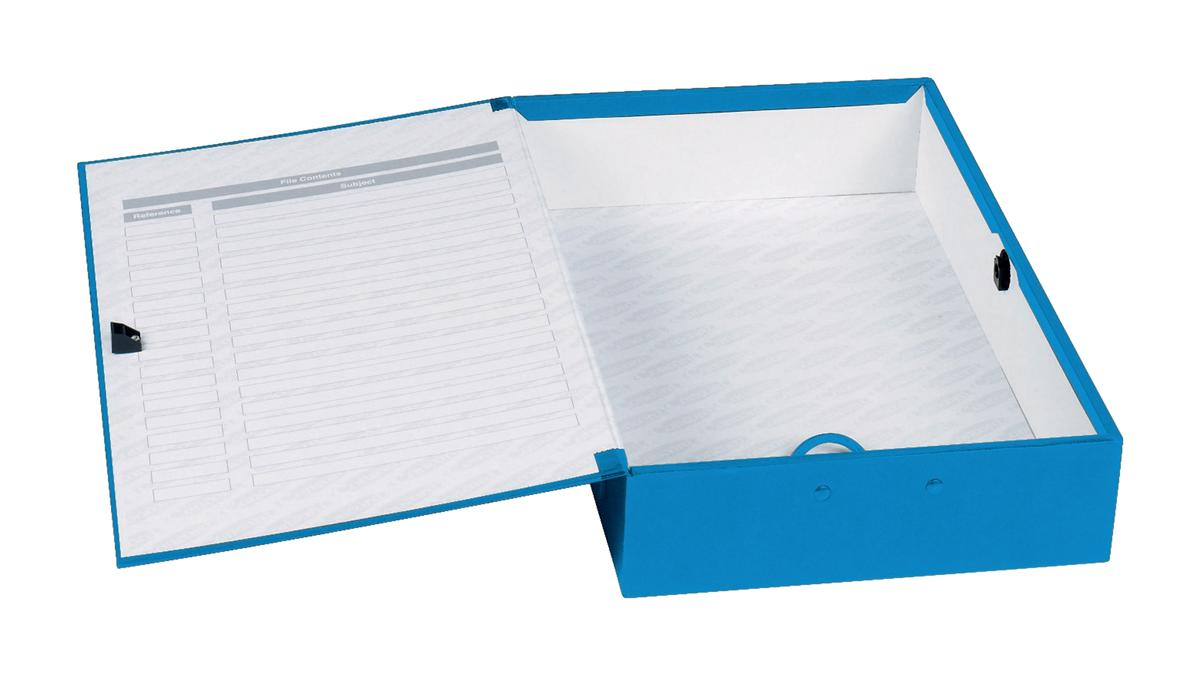 Image for Concord Classic Box File 75mm Spine Foolscap Blue Ref C1278 [Pack 5]