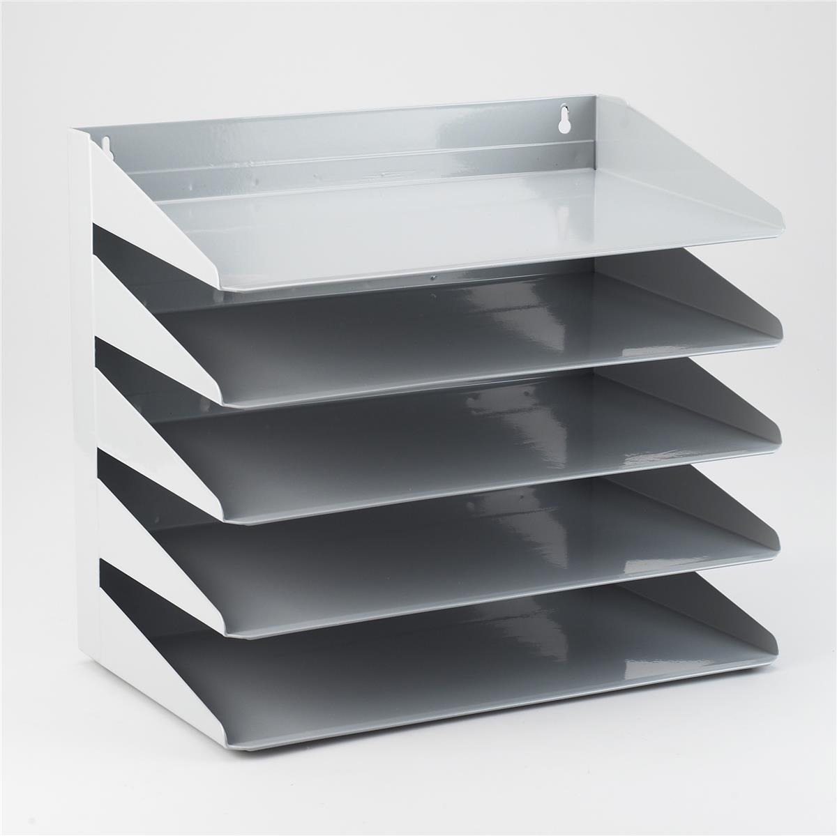 Image for Avery Letter Rack 5-Tier Steel W380xD230xH335mm Grey Ref 605SGREY