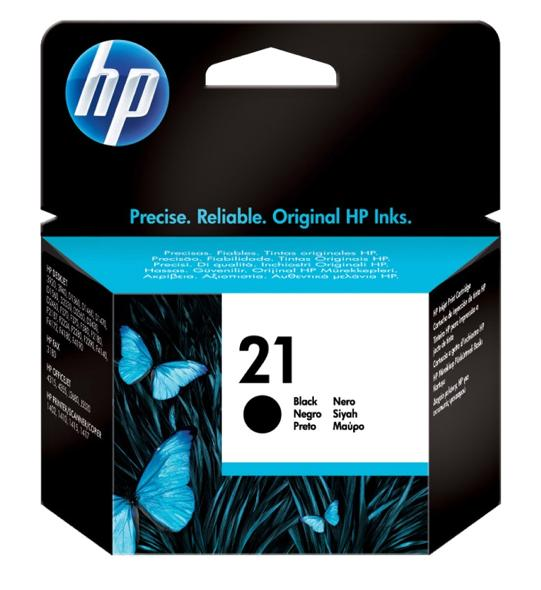 Hewlett Packard [HP] No. 21 Inkjet Cartridge Page Life 150pp 14ml Black Ref C9351AE