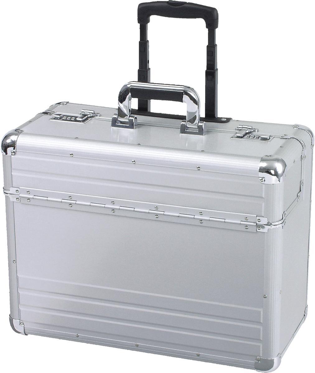 95d29e4bb32 Image for Alumaxx Omega Trolley Pilot Case 2 Combination Locks 5.3kg Silver  Aluminium Ref 45122