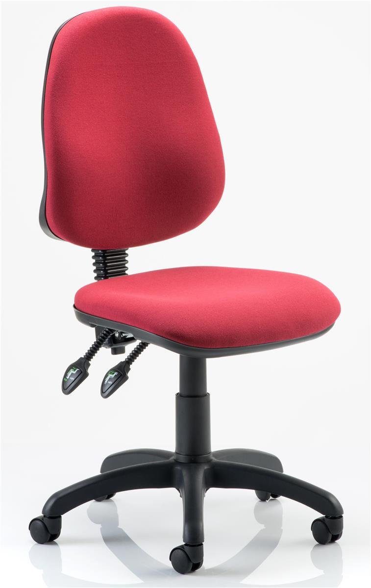 Image for Trexus Operator Chair Height-adjustable Backrest Dished Seat Wine