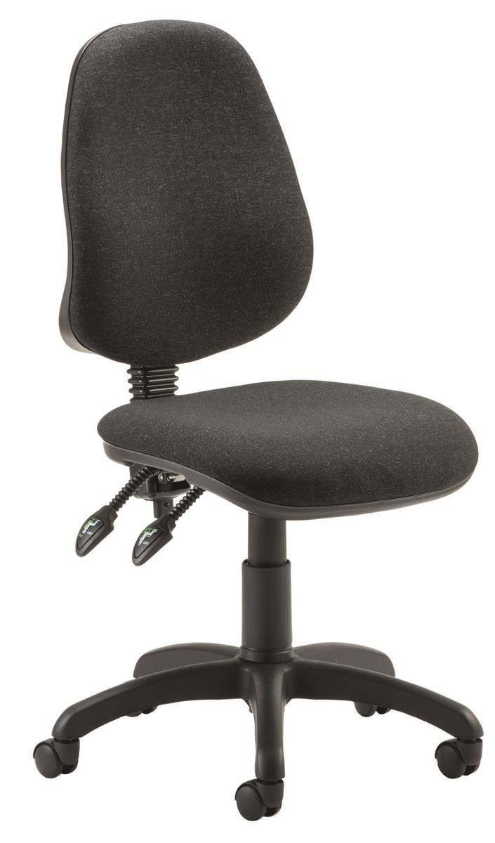 Image for Trexus Operator Chair Flat Packed Fabric Charcoal