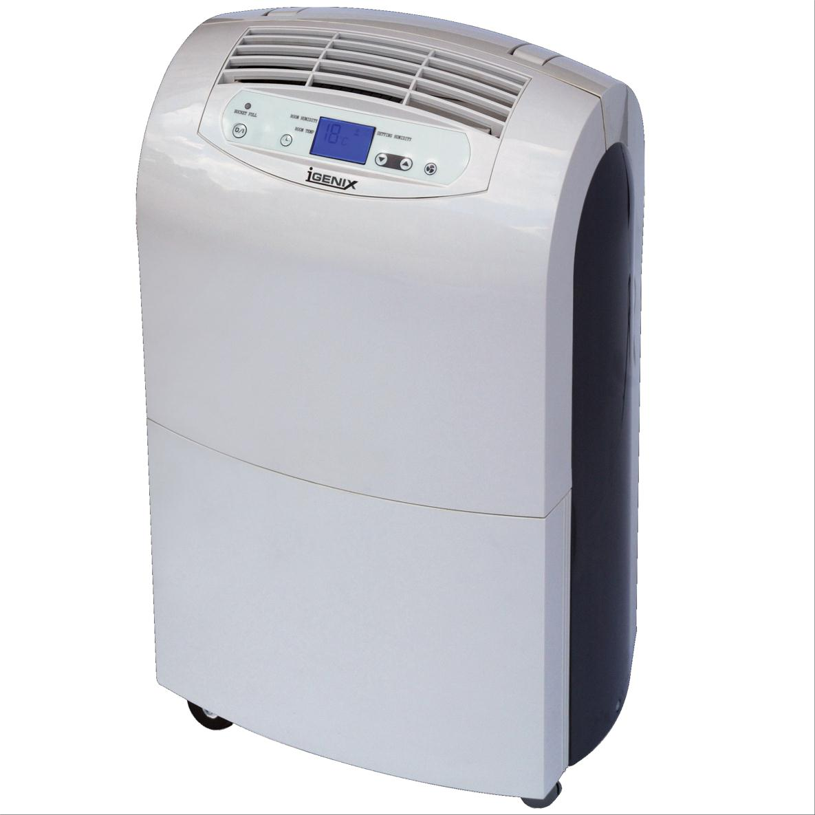 Image for Igenix De-Humidifier LCD Display Rotary Compressor Extracts 20L/24h 340W Tank 6.5 Litre Ref IG9800