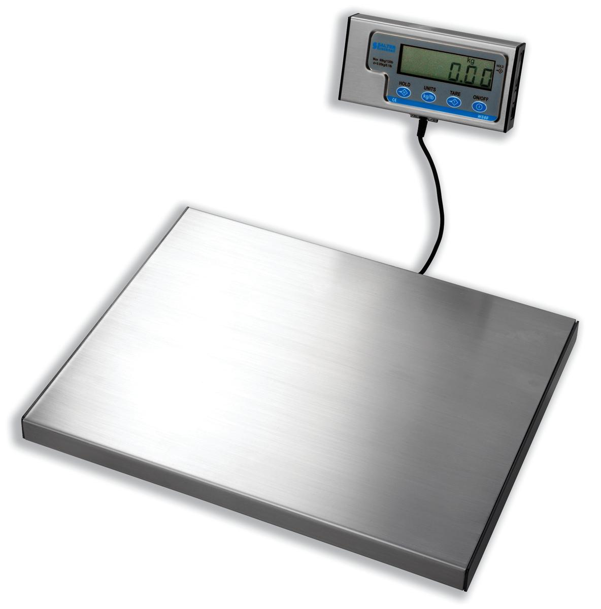 Salter WS Electronic Parcel Scale Portable with Detached LCD 20g Increments Capacity 60kg Ref WS60