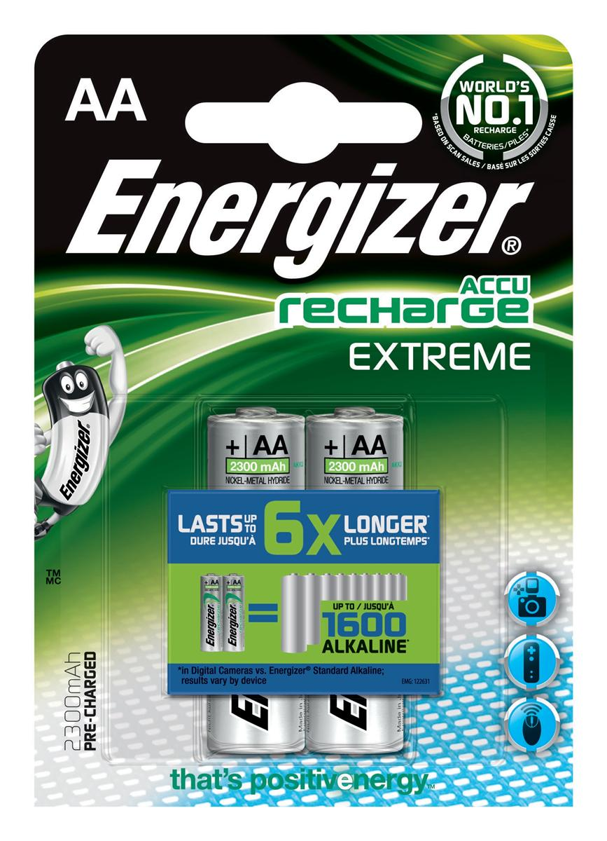 Image for Energizer Battery Rechargeable NiMH Capacity 2300mAh HR6 1.2V AA Ref E300624500 [Pack 2]