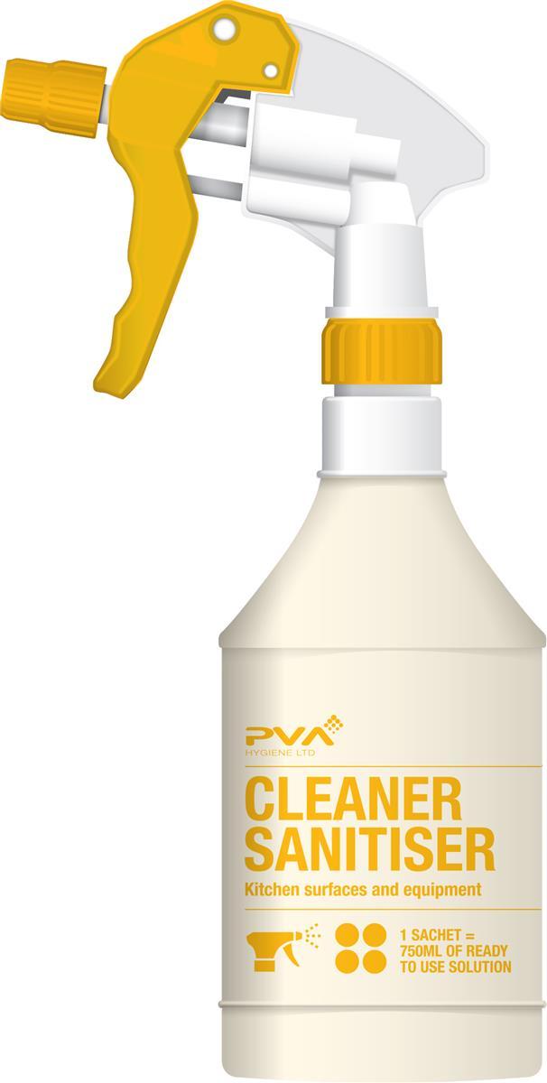 PVA Empty Trigger Spray Bottle for Food Safe Sanitiser 750ml Ref 40795551