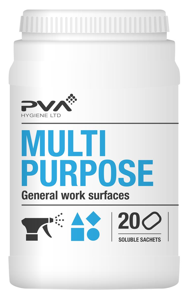 PVA Multi-purpose Cleaner Sachets Citrus Ref 4018002 [Pack 20]