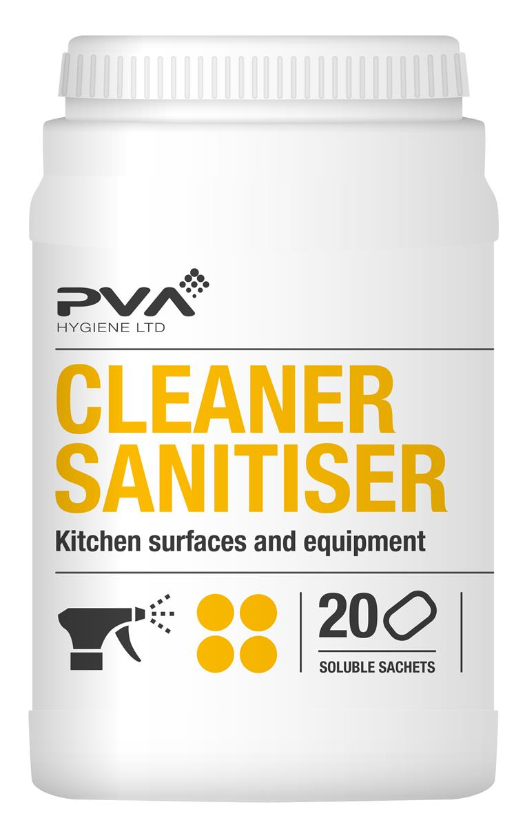 PVA Food Safe Sanitiser Sachets Ref 4017990 [Pack 20]