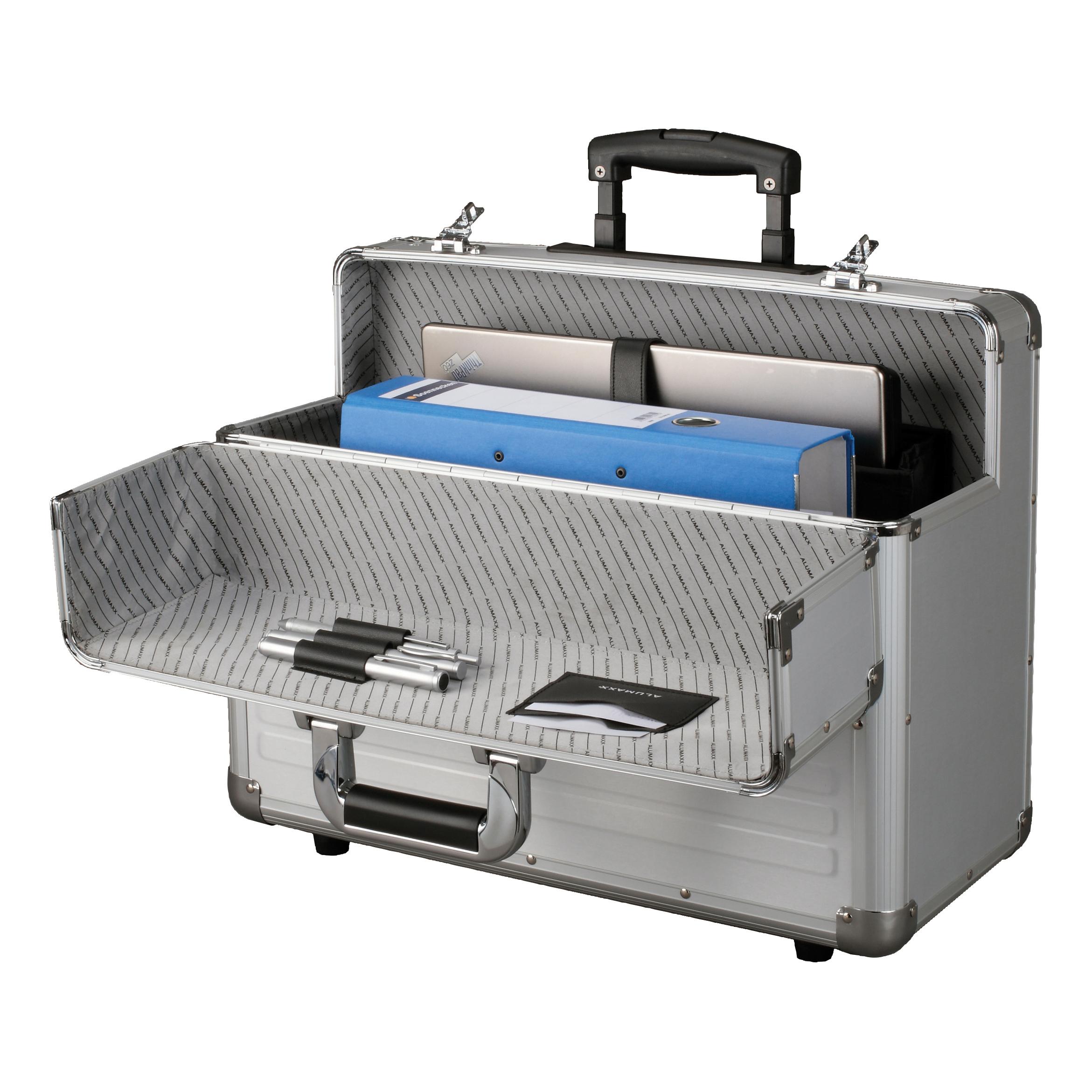 Alumaxx Omega Trolley Pilot Case 2 Combination Locks 5.3kg Silver Aluminium Ref 45122
