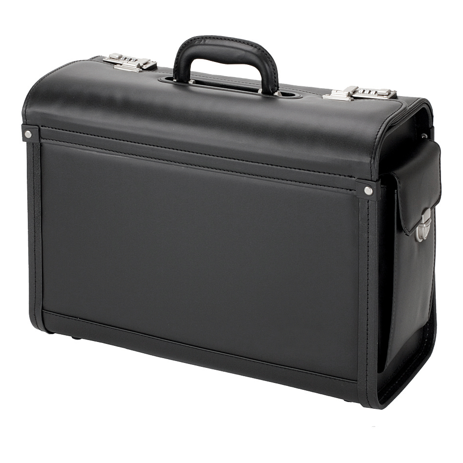 Briefcases & Luggage Alassio Genova Pilot Case Multi-section 2 Combination Locks Leather-look Black Ref 45028