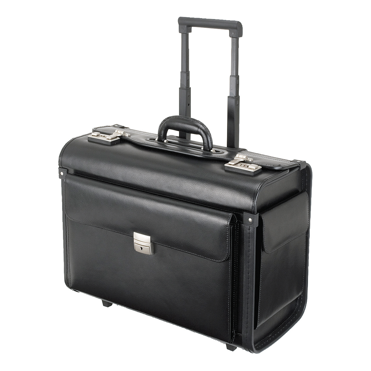 Briefcases & Luggage Alassio Silvana Trolley Pilot Case Laptop Compartment 2 Combination Locks Leather-look Black Ref 92301