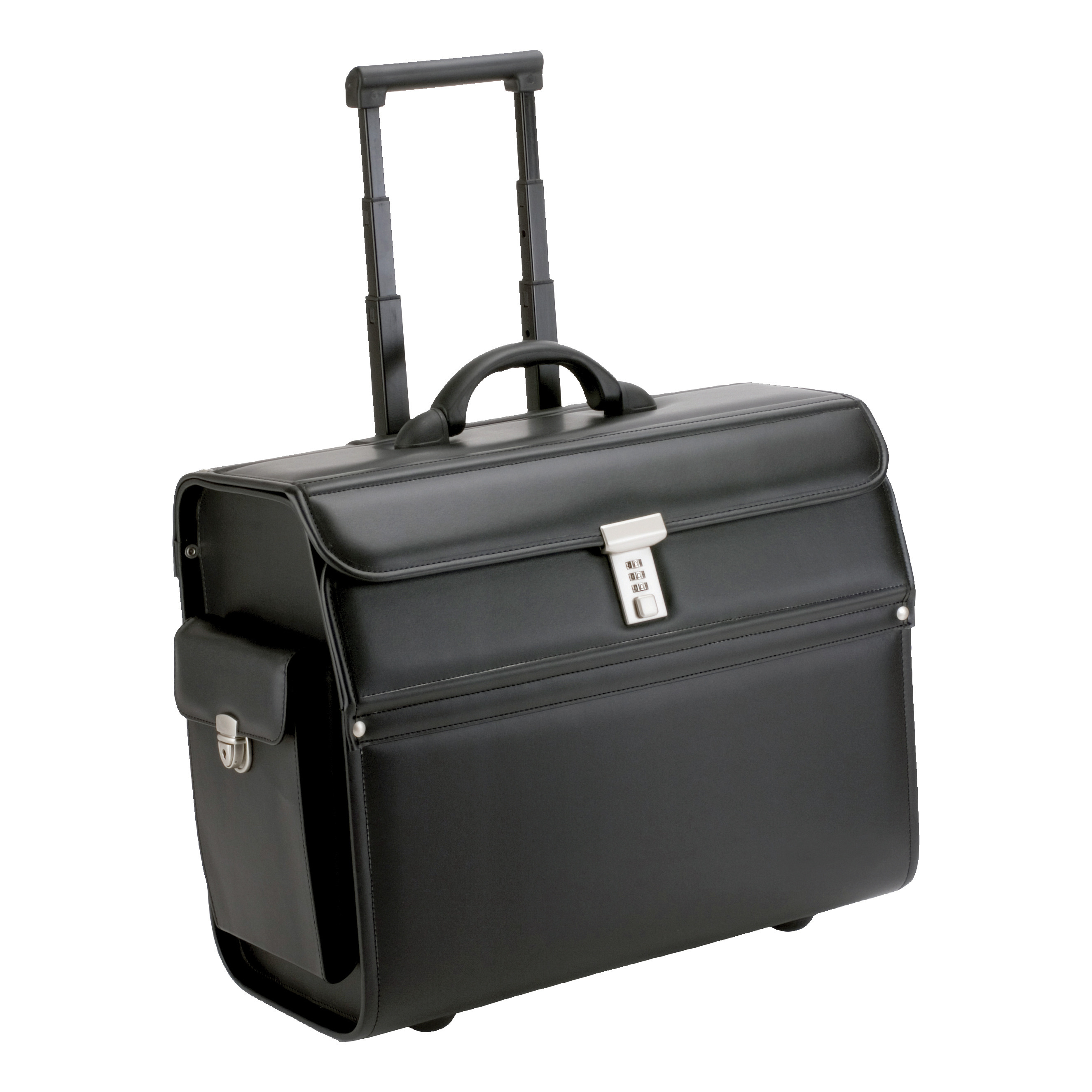 Briefcases & Luggage Alassio Mondo Trolley Pilot Case Laptop Compartment 2 Combination Locks Leather-look Black Ref 45033