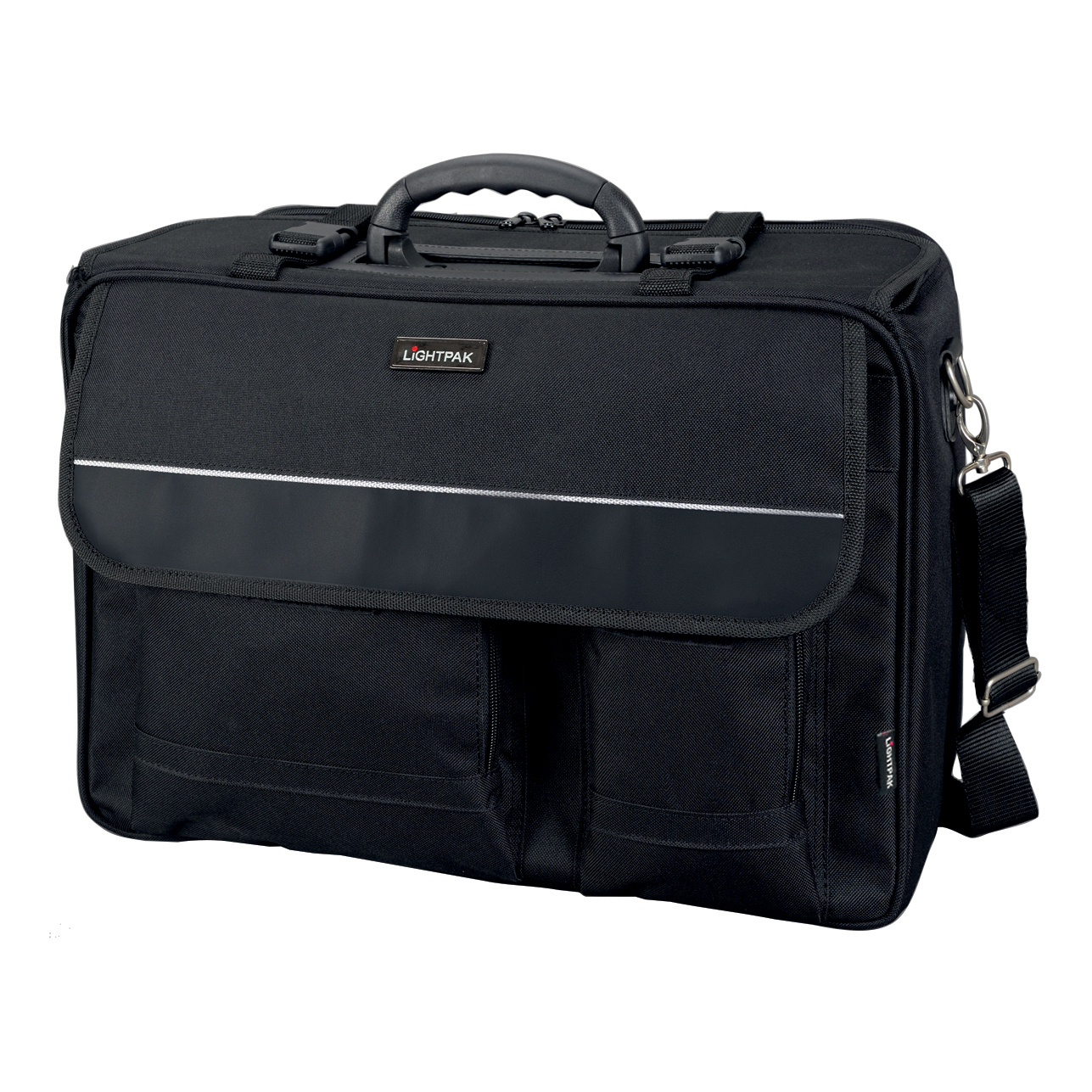 Briefcases & Luggage Lightpak The Flight Pilot Case Overnight Nylon 17in Laptop Compartment Black Ref 46008