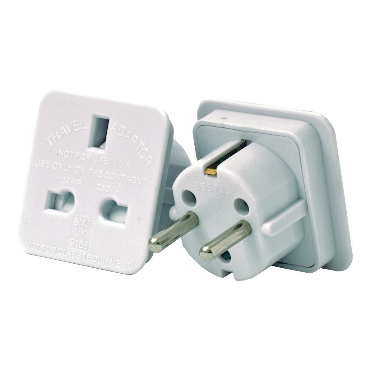 Cables / Leads / Plugs / Fuses UK to European Travel Adaptor Pack 2