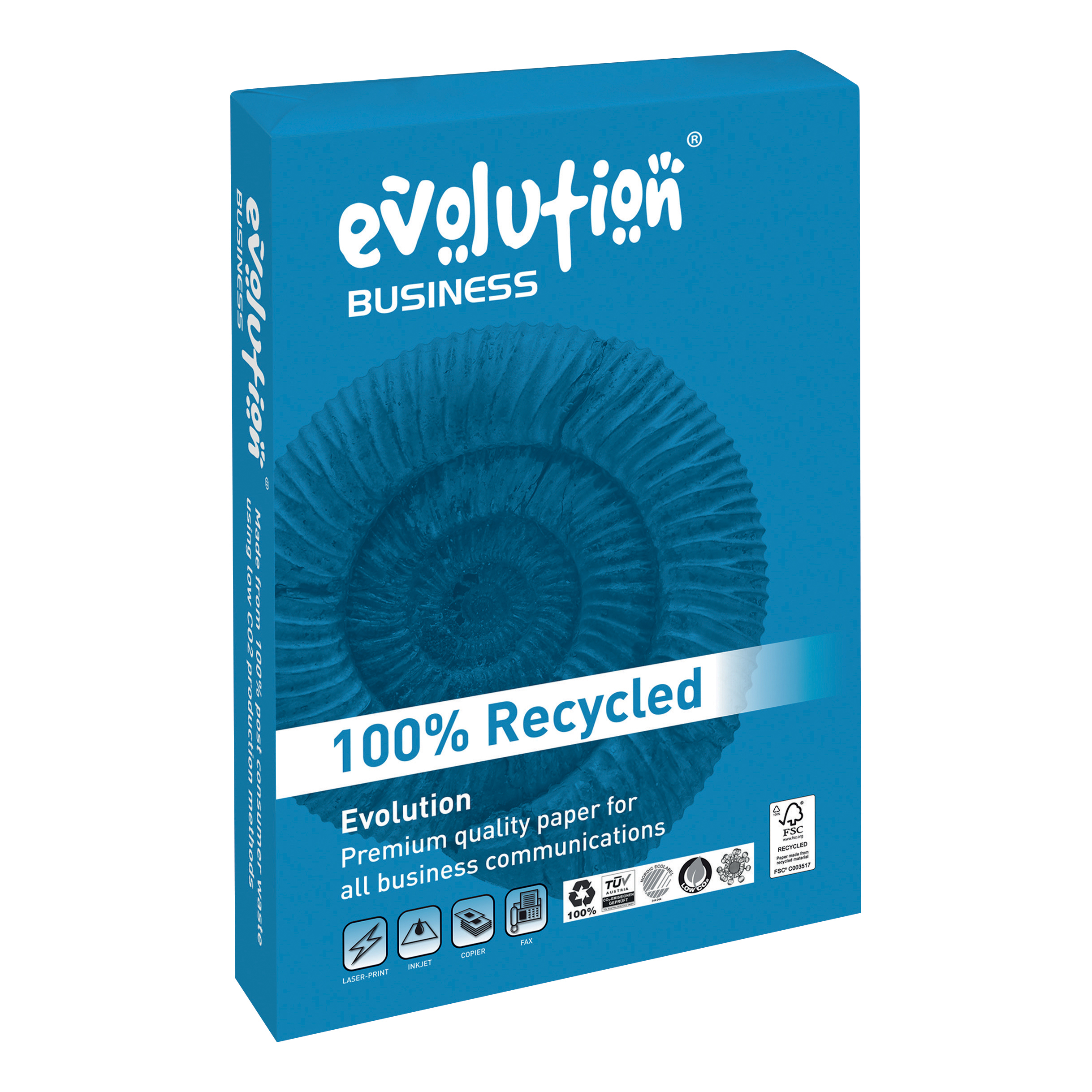 Evolution Business Paper FSC Recycled Ream-wrapped 100gsm A4 White Ref EVBU21100 500 Sheets
