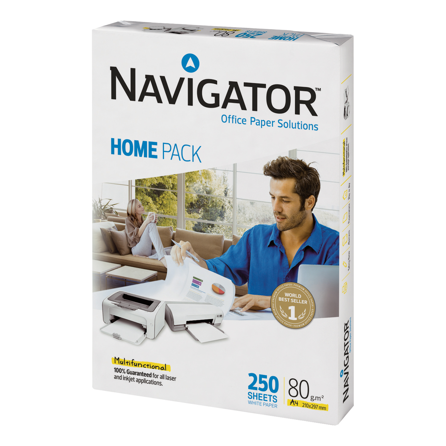 Navigator Homepack Paper Multifunctional 80gsm A4 White Ref 127415 250 Sheets