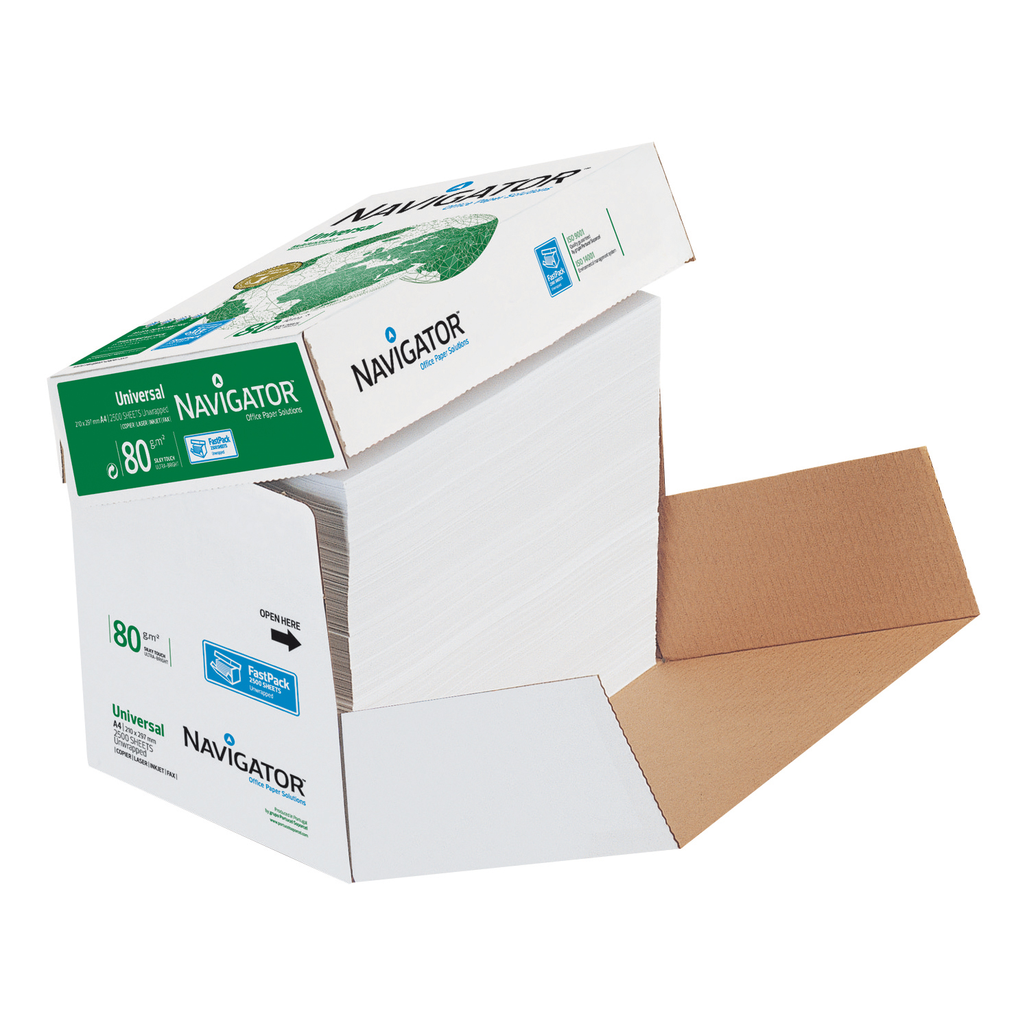 Navigator Universal Paper Multifunctional 80gsm A4 Fast Pack White Ref 127565 2500 Sheets
