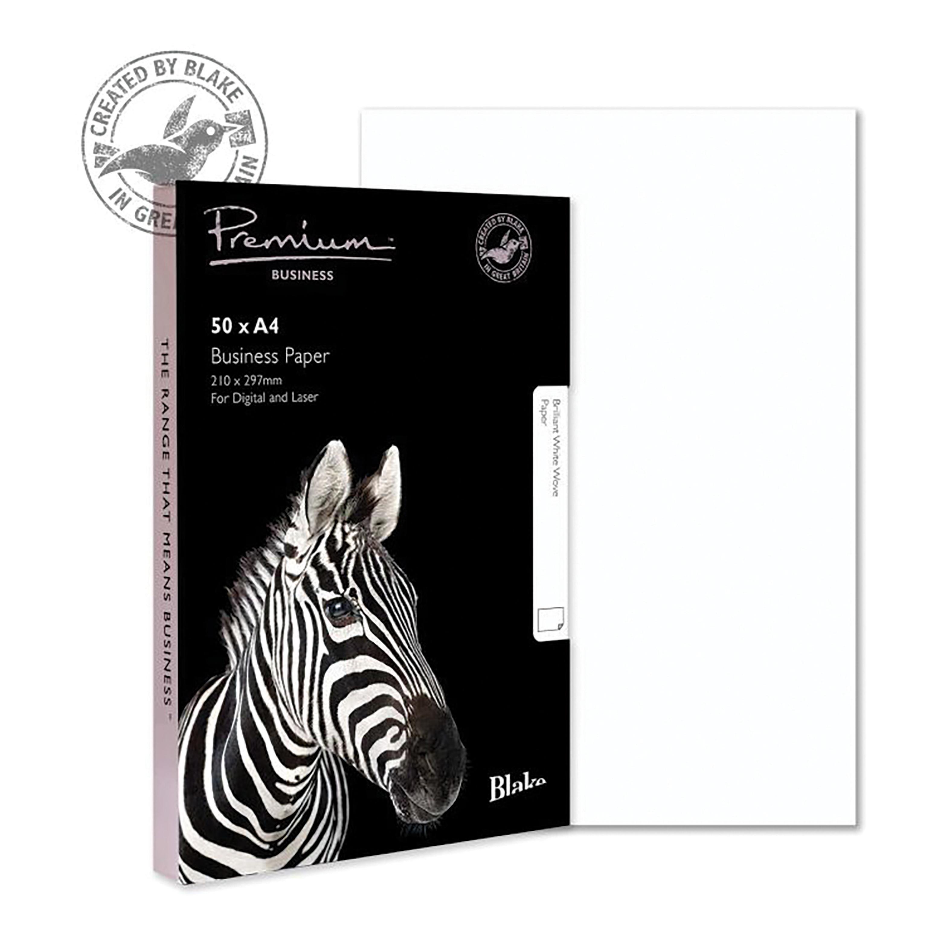 Blake Premium Business Paper 120gsm A4 Brilliant White Wove Finish [Pack 50] Ref 37676