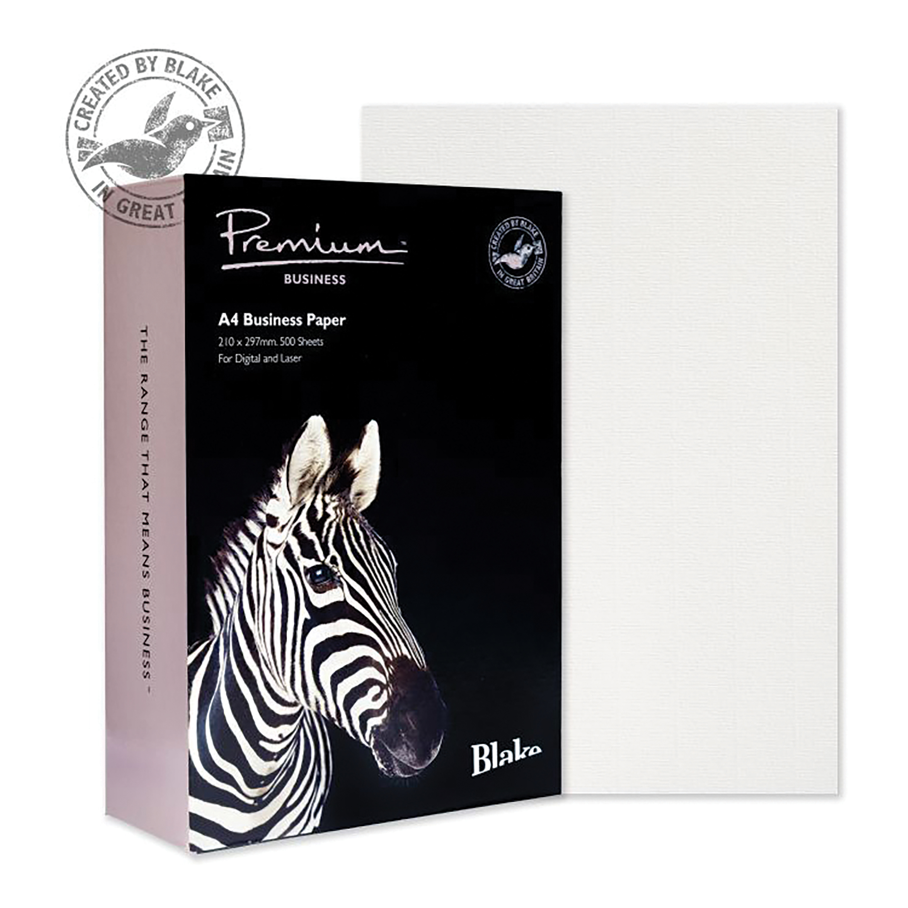 Blake Premium FSC Business Paper Laid Finish 120gsm A4 Diamond White Ref 91677 [Pack 500]