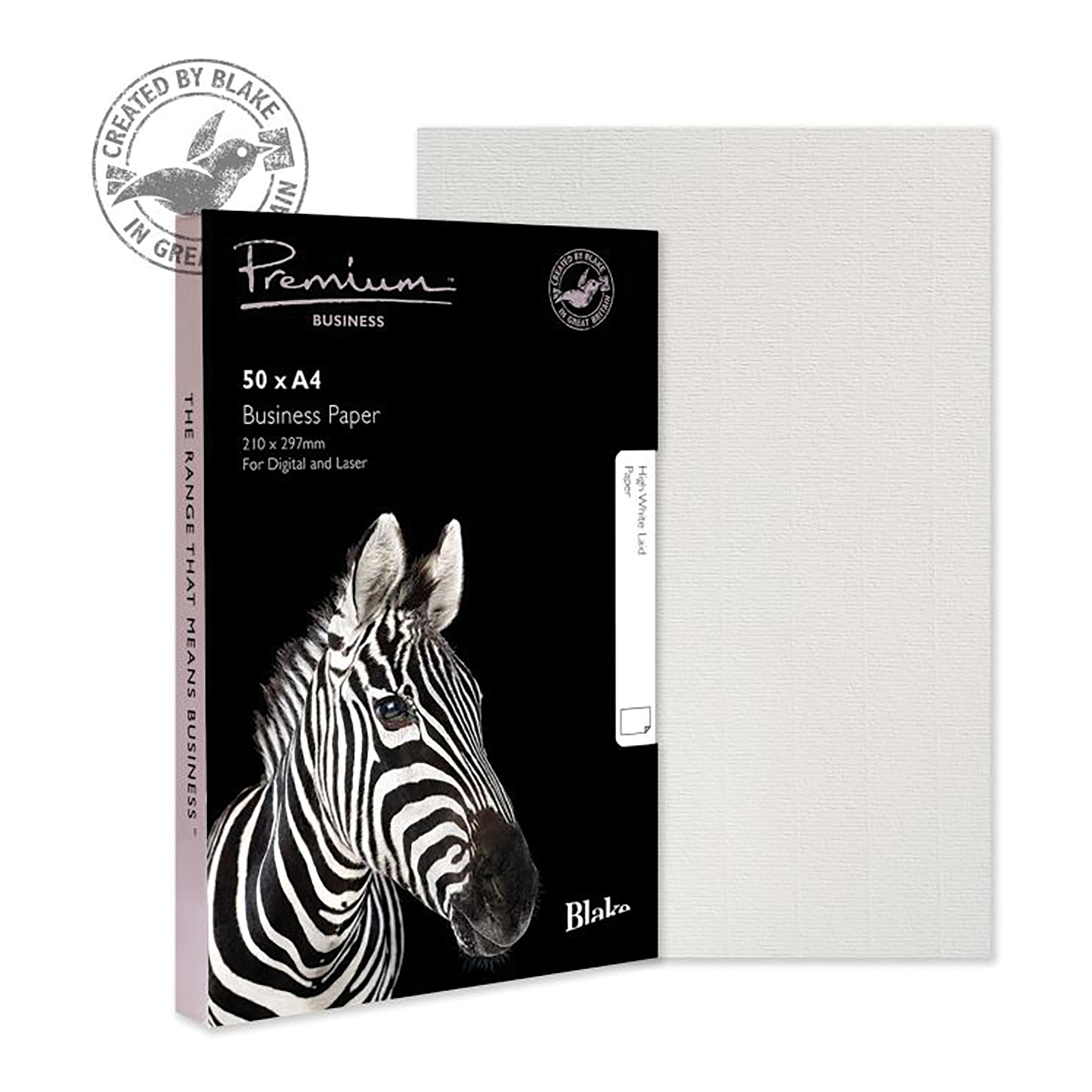 Blake Premium Business High White Laid Finish Paper 120gsm A4  Pack 50 Ref 39676