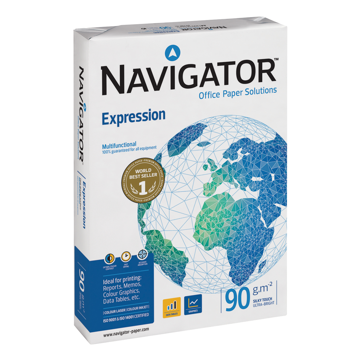 Navigator Expression Paper Ream-Wrapped 90gsm A3 White Ref NAV90A3 500 Sheets